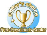 editors choice award from free downloads center